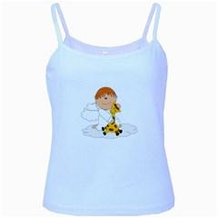 Pet Giraffe Angel Cute Boy Baby Blue Spaghetti Tank