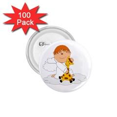 Pet Giraffe Angel Cute Boy 1 75  Buttons (100 Pack)  by Nexatart