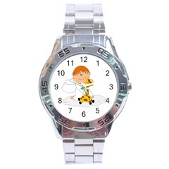 Pet Giraffe Angel Cute Boy Stainless Steel Analogue Watch