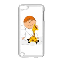 Pet Giraffe Angel Cute Boy Apple Ipod Touch 5 Case (white) by Nexatart