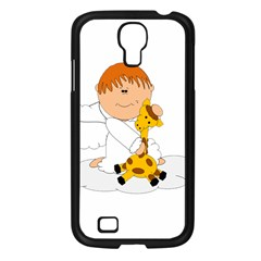 Pet Giraffe Angel Cute Boy Samsung Galaxy S4 I9500/ I9505 Case (black) by Nexatart
