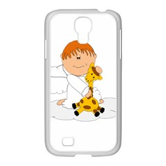 Pet Giraffe Angel Cute Boy Samsung Galaxy S4 I9500/ I9505 Case (white) by Nexatart