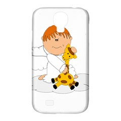 Pet Giraffe Angel Cute Boy Samsung Galaxy S4 Classic Hardshell Case (pc+silicone) by Nexatart