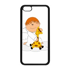 Pet Giraffe Angel Cute Boy Apple Iphone 5c Seamless Case (black)