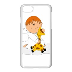 Pet Giraffe Angel Cute Boy Apple Iphone 7 Seamless Case (white) by Nexatart