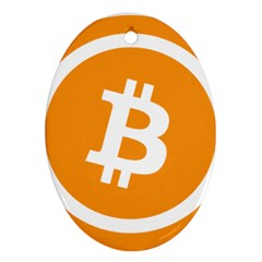 Bitcoin Cryptocurrency Currency Ornament (oval) by Nexatart