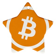 Bitcoin Cryptocurrency Currency Ornament (star)