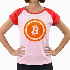 Bitcoin Cryptocurrency Currency Women s Cap Sleeve T Shirt