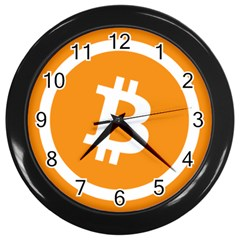 Bitcoin Cryptocurrency Currency Wall Clocks (black)
