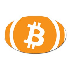 Bitcoin Cryptocurrency Currency Oval Magnet
