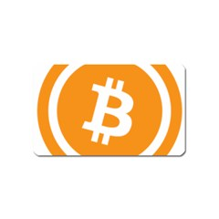 Bitcoin Cryptocurrency Currency Magnet (name Card) by Nexatart
