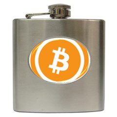 Bitcoin Cryptocurrency Currency Hip Flask (6 Oz)