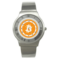 Bitcoin Cryptocurrency Currency Stainless Steel Watch