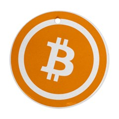 Bitcoin Cryptocurrency Currency Round Ornament (two Sides)