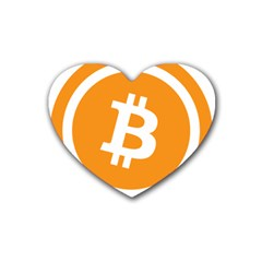 Bitcoin Cryptocurrency Currency Heart Coaster (4 Pack)