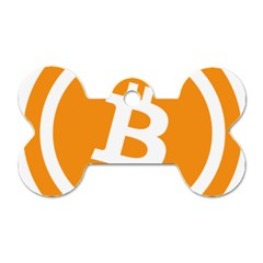 Bitcoin Cryptocurrency Currency Dog Tag Bone (two Sides)