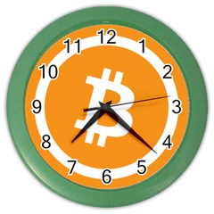 Bitcoin Cryptocurrency Currency Color Wall Clocks by Nexatart