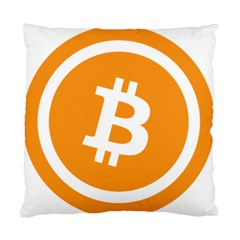 Bitcoin Cryptocurrency Currency Standard Cushion Case (two Sides) by Nexatart