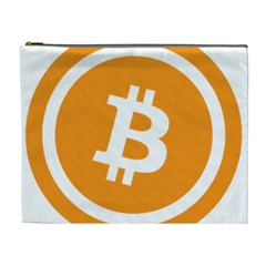 Bitcoin Cryptocurrency Currency Cosmetic Bag (xl)