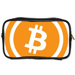 Bitcoin Cryptocurrency Currency Toiletries Bags 2 Side by Nexatart