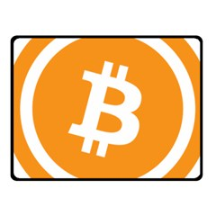 Bitcoin Cryptocurrency Currency Fleece Blanket (small)