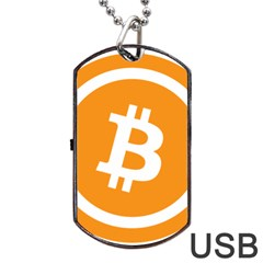 Bitcoin Cryptocurrency Currency Dog Tag Usb Flash (two Sides) by Nexatart