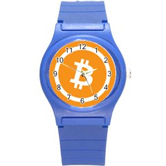 Bitcoin Cryptocurrency Currency Round Plastic Sport Watch (s) by Nexatart