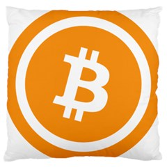 Bitcoin Cryptocurrency Currency Large Cushion Case (two Sides)