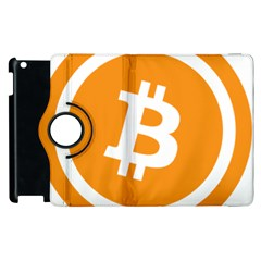 Bitcoin Cryptocurrency Currency Apple Ipad 2 Flip 360 Case by Nexatart