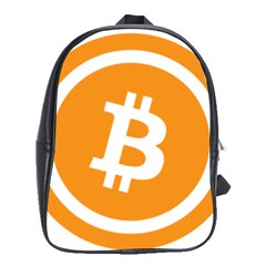 Bitcoin Cryptocurrency Currency School Bags (xl)  by Nexatart