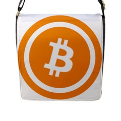 Bitcoin Cryptocurrency Currency Flap Messenger Bag (l)  by Nexatart