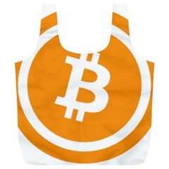 Bitcoin Cryptocurrency Currency Full Print Recycle Bags (l)
