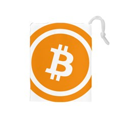 Bitcoin Cryptocurrency Currency Drawstring Pouches (medium)