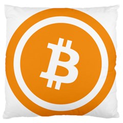 Bitcoin Cryptocurrency Currency Large Flano Cushion Case (one Side)