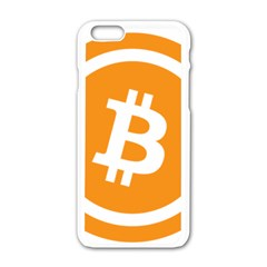 Bitcoin Cryptocurrency Currency Apple Iphone 6/6s White Enamel Case by Nexatart
