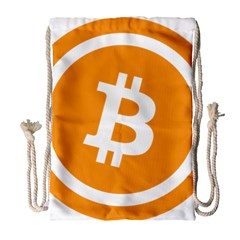 Bitcoin Cryptocurrency Currency Drawstring Bag (large) by Nexatart