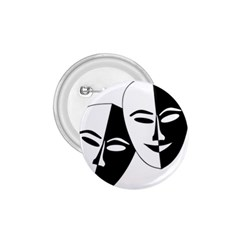 Theatermasken Masks Theater Happy 1 75  Buttons