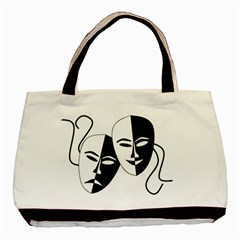 Theatermasken Masks Theater Happy Basic Tote Bag by Nexatart