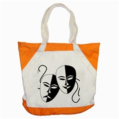 Theatermasken Masks Theater Happy Accent Tote Bag by Nexatart