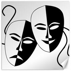 Theatermasken Masks Theater Happy Canvas 20  X 20