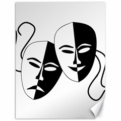 Theatermasken Masks Theater Happy Canvas 18  X 24   by Nexatart