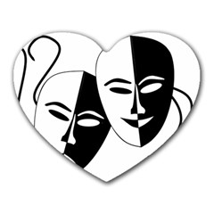 Theatermasken Masks Theater Happy Heart Mousepads by Nexatart