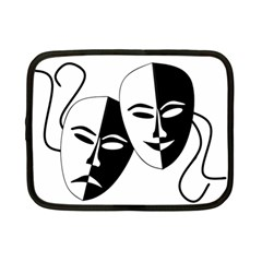 Theatermasken Masks Theater Happy Netbook Case (small)