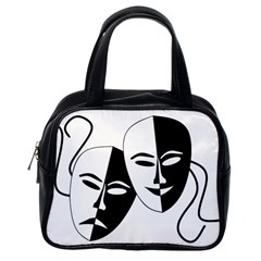 Theatermasken Masks Theater Happy Classic Handbags (one Side) by Nexatart