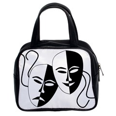 Theatermasken Masks Theater Happy Classic Handbags (2 Sides)