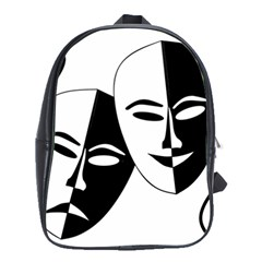 Theatermasken Masks Theater Happy School Bags(large)