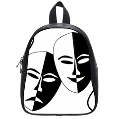 Theatermasken Masks Theater Happy School Bags (small)  by Nexatart