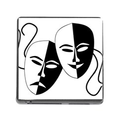 Theatermasken Masks Theater Happy Memory Card Reader (Square)