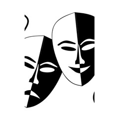 Theatermasken Masks Theater Happy Shower Curtain 48  X 72  (small)  by Nexatart