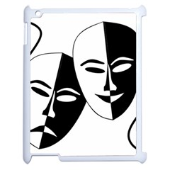 Theatermasken Masks Theater Happy Apple Ipad 2 Case (white) by Nexatart
